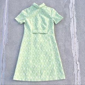 Vtg 60s Mod A-Line Metallic Dress